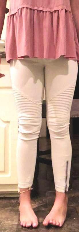 Beulah White Moto Jeans