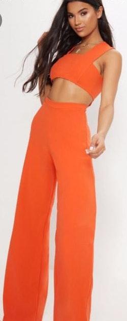 Pretty Little Thing Orange jumpsuit