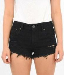 American Eagle Outfitters Ripped Black Shorts