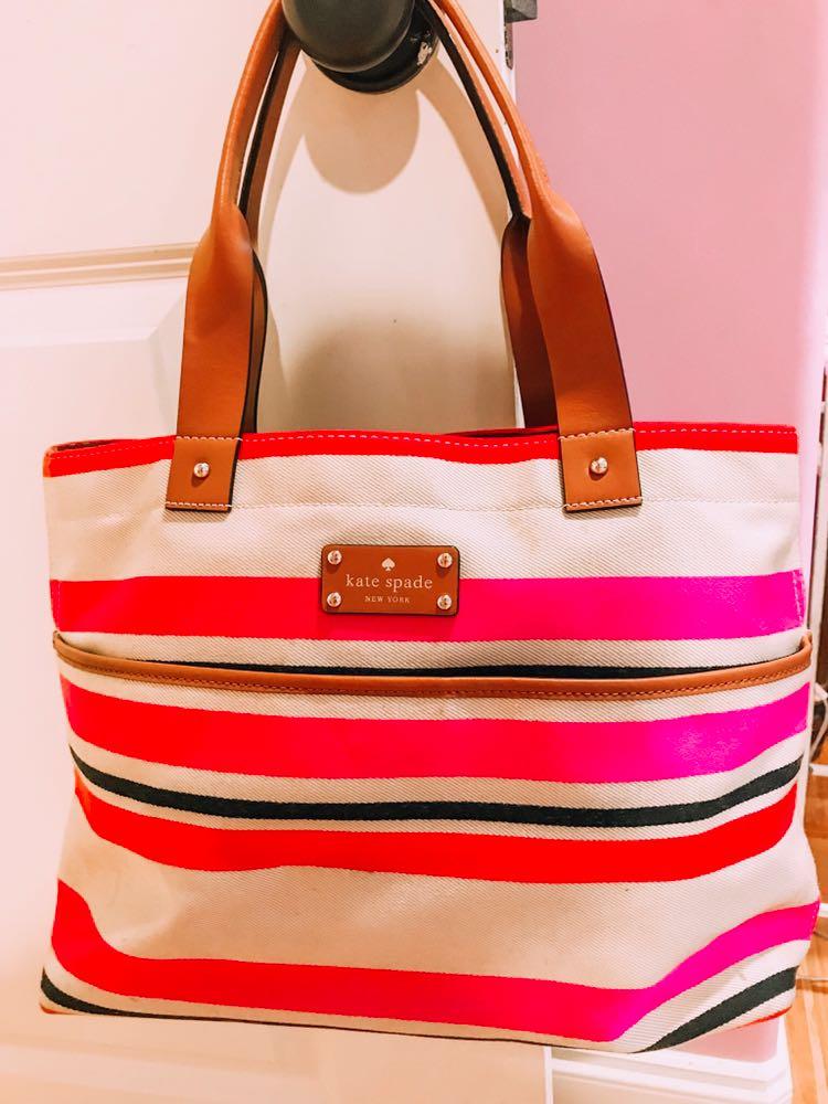 Kate Spade Striped  Hand Bag!