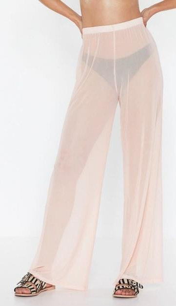 Nasty Gal Sheer Swimsuit Cover Up Pants