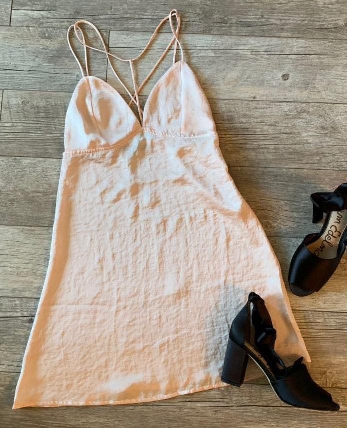 Kendall & Kylie Pink Slip Dress