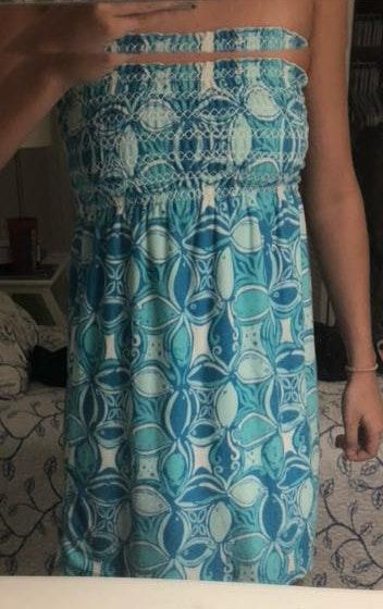 53fef81e94742 We're the buy/sell app for cute clothes. Say to being bored of your clothes.  Home Lilly Pulitzer Blue Smock Cover ...
