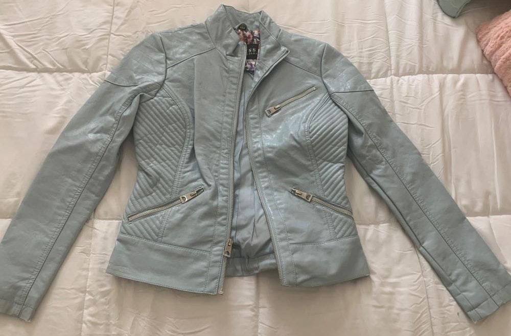 Guess Blue leather Jacket
