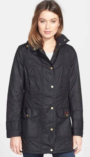 Barbour Waxed Black Jacket