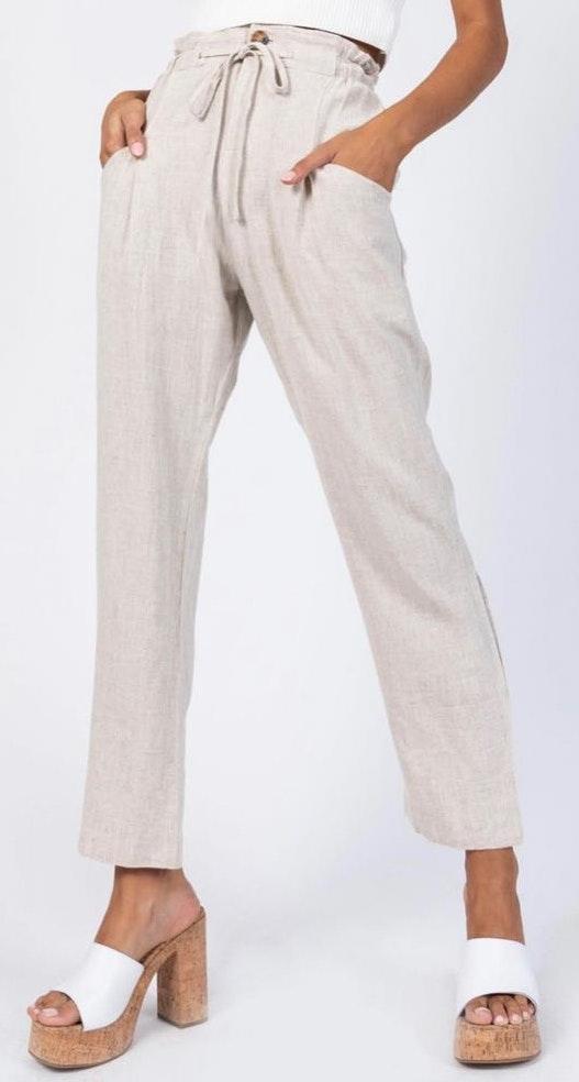 Princess Polly NWT  The Rex Beige Pants