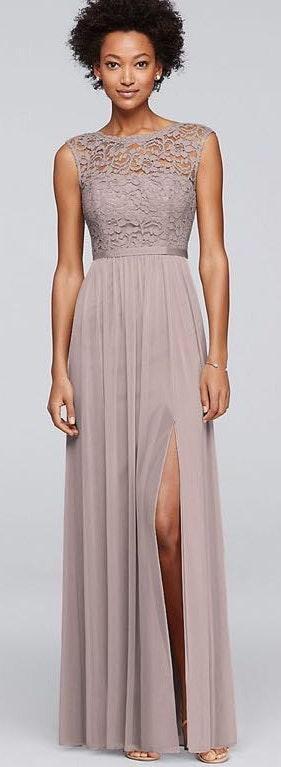 David's Bridal Beautiful Lace Formal Dress