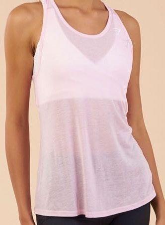 Gymshark Double Back Vest - Chalk Pink Marl