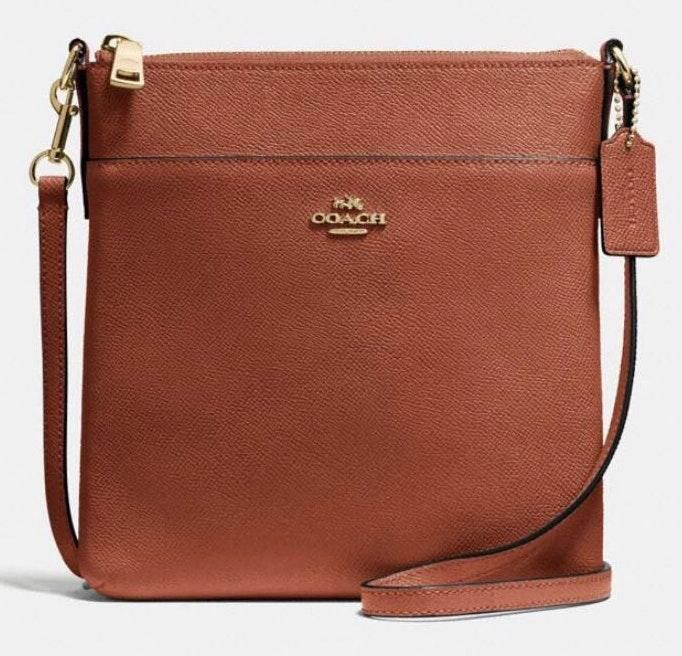 Coach Brown Leather Crossbody Purse