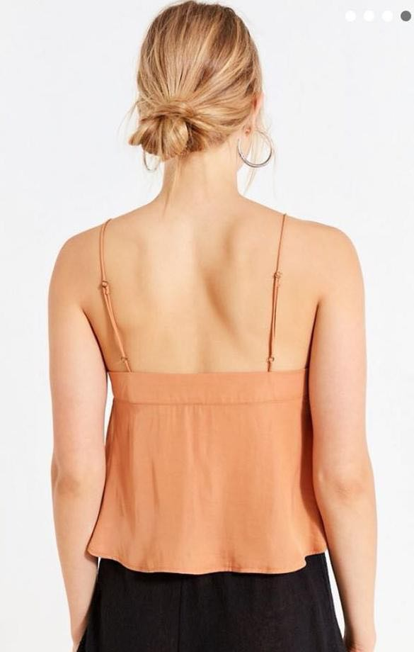 72f529cb Urban Outfitters Silky Square Neck Cami   Curtsy