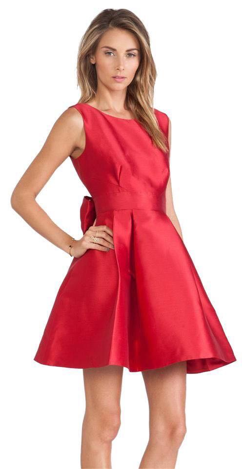 60782579d5c62 Kate Spade Hot Pink Open Back Bow Dress | Curtsy