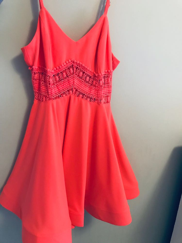 Xenia Coral/Pink Dress