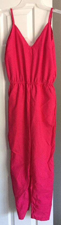 SheIn Hot Pink Jumpsuit