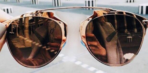 9efae1836 Urban Outfitters Rose Gold Reflective Sunglasses | Curtsy
