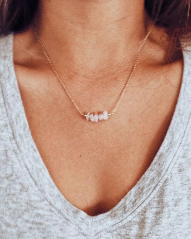 Dainty Pink Boho Necklace