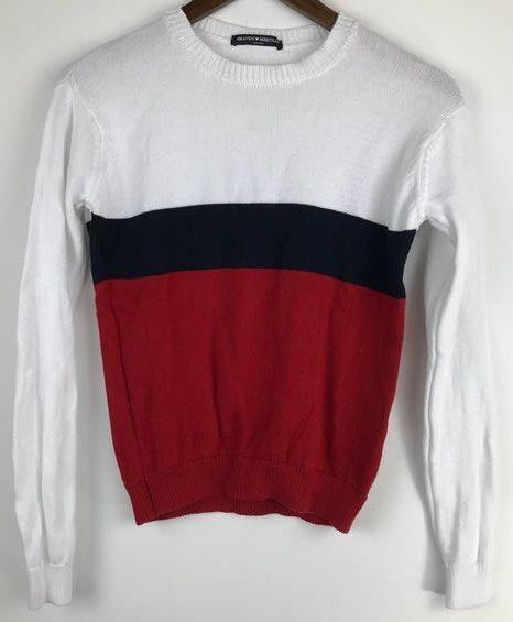 John Galt Red, Blue, and White Sweater
