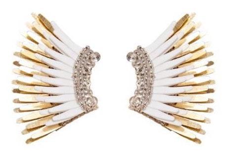Mignonne Gavigan White Mini Madeline Earrings