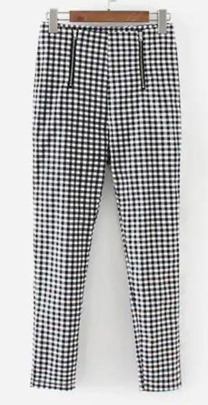 SheIn Gingham Zipper Pants
