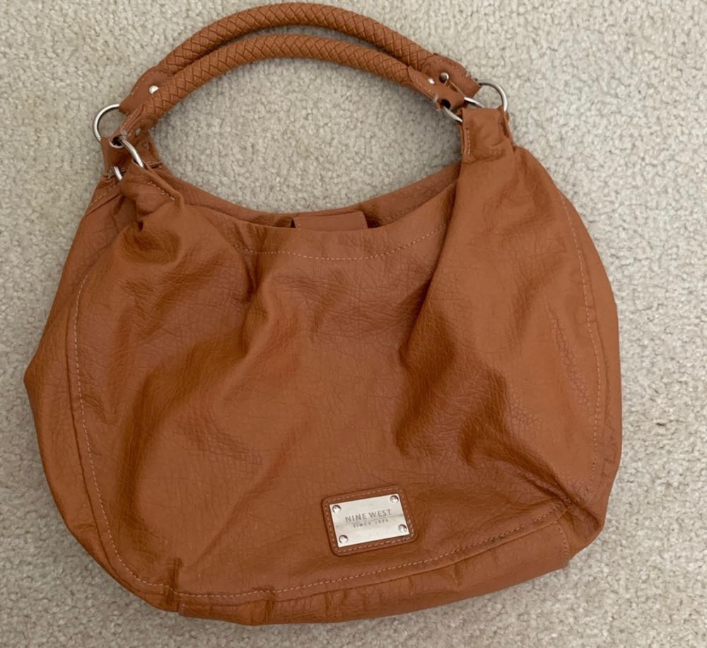 Nine West Tan Leather Shoulder Bag