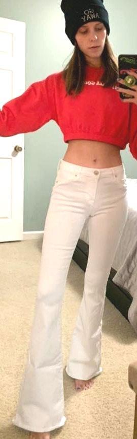 Hudson Jeans White Flare Jeans