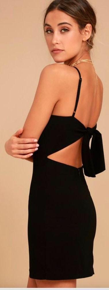 Lulus Black Mini Dress