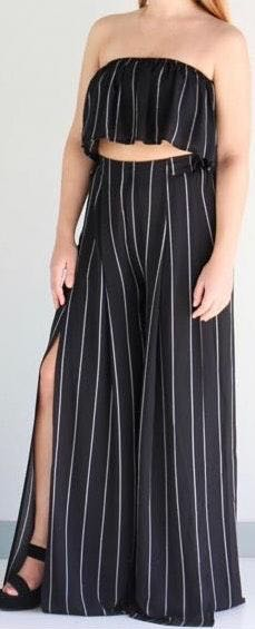 L'ATISTE striped pants set