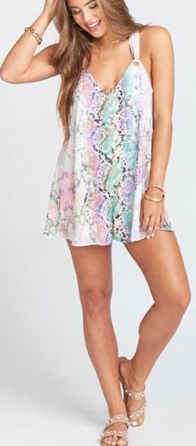 Show Me Your Mumu Berry Snake romper