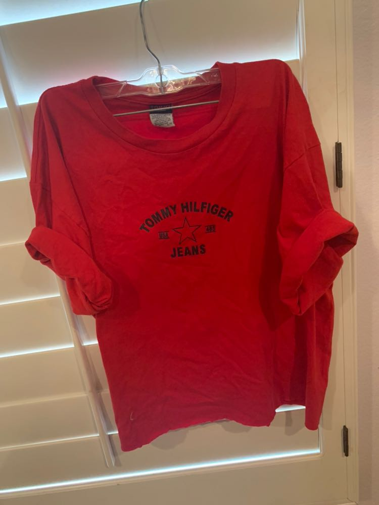 Tommy Hilfiger cropped red  shirt