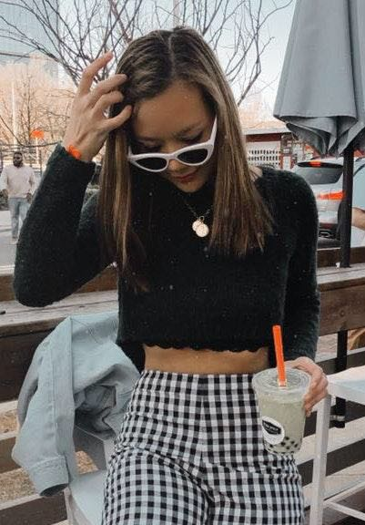 LF ADORABLE  Cropped Kit Sweater