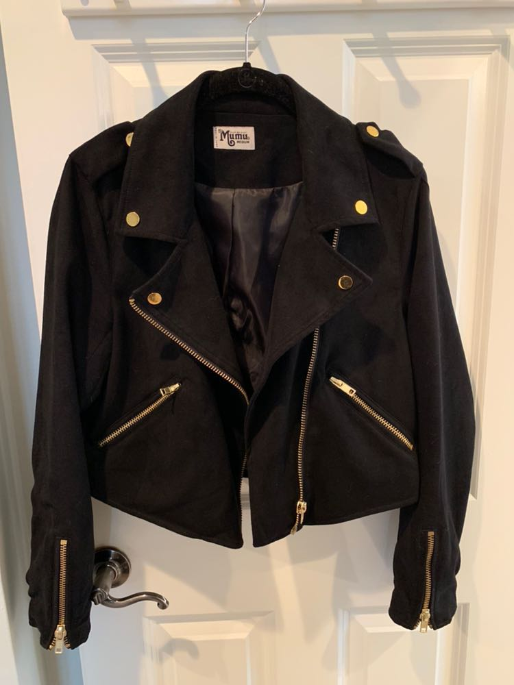 Show Me Your Mumu Black Suede Moto Jacket