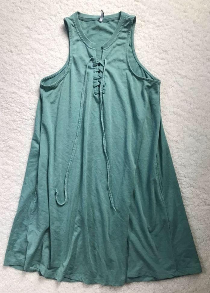 Z Supply Lace Up Pocket Dress