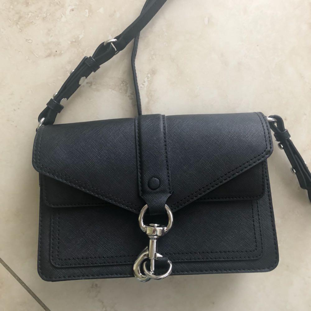 Rebecca Minkoff New Black Leather Crossbody Bag
