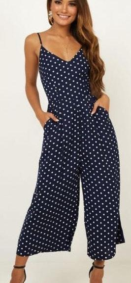 Showpo Dreamy Days Polka Dot Jumpsuit