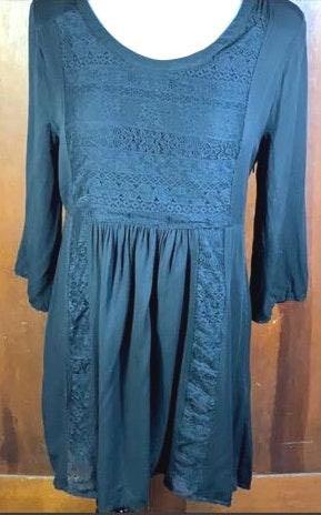 Umgee Black Lace Back Dress