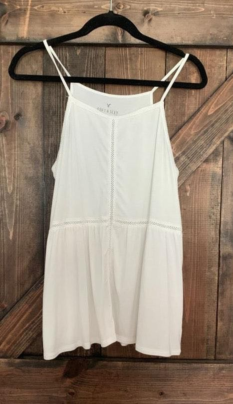 American Eagle Outfitters White Flow Tank