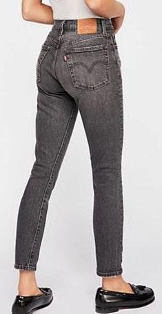 Levi's 501 High Waisted Straight Leg Jean