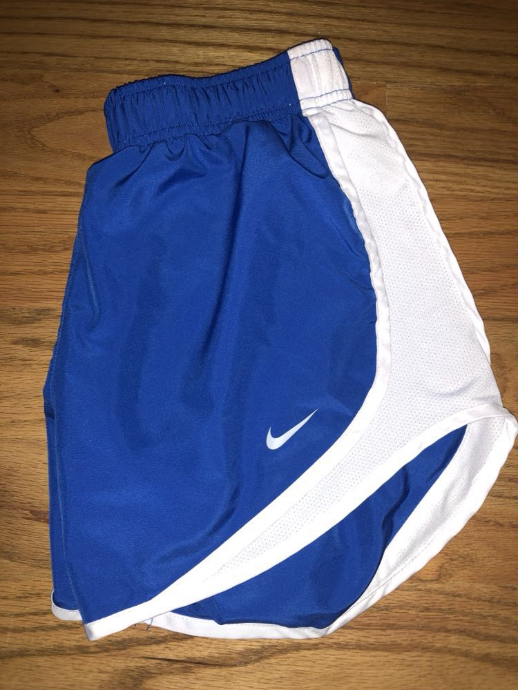 Nike White And Blue  Running Shorts