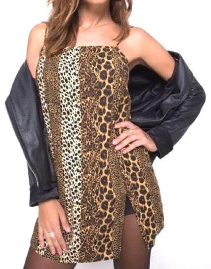 Motel Rocks Datista Animal Print Dress