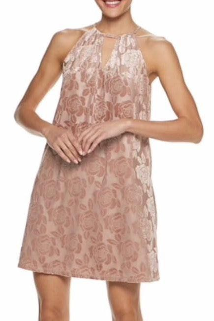 Candie's NWT Mauve Roses Halter Dress Juniors
