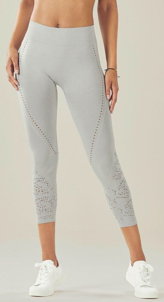 Fabletics Luciana Gray Capri Leggings, M