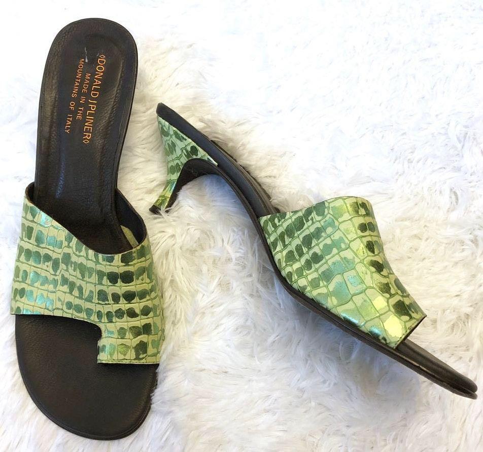 Donald J. Pliner Metallic Green Valore Sandal