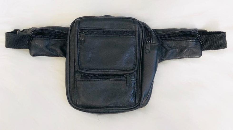 1990s vintage black square Fanny pack