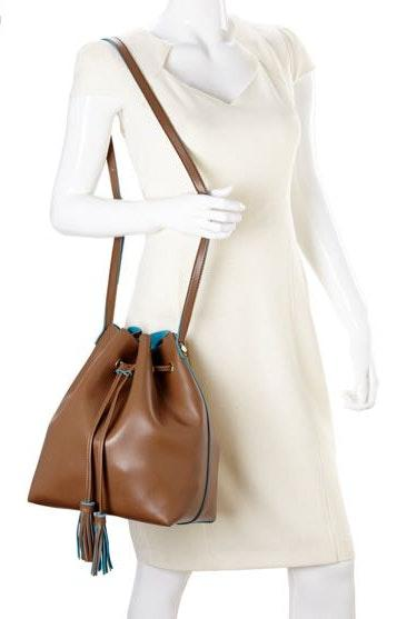 Steve Madden Brown Leather Bucket Bag