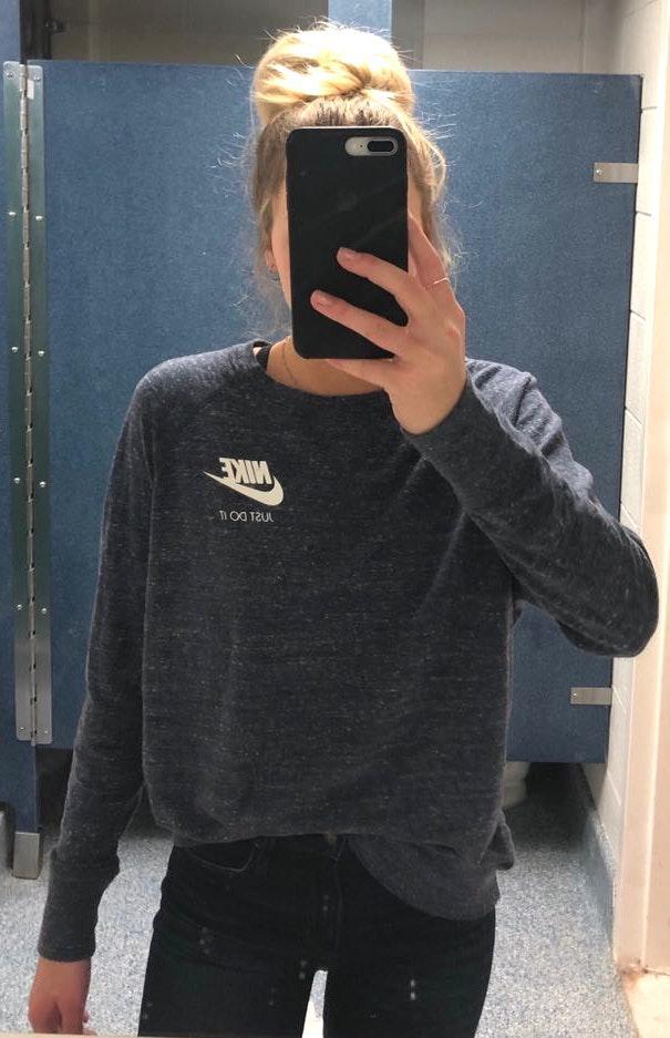 Nike Blue  Long Sleeve Shirt