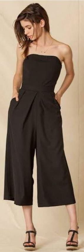 Sans Souci Black Strapless Jumpsuit