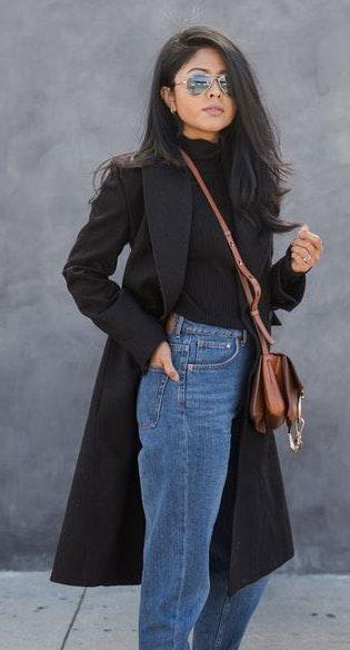Boohoo Black Trench Coat