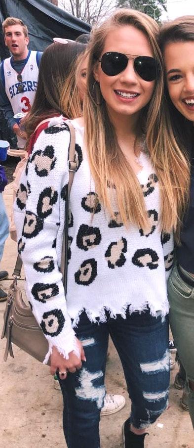 Cheetah Sweater
