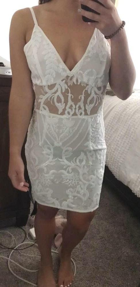 Pretty Little Thing White Bodycon Dress
