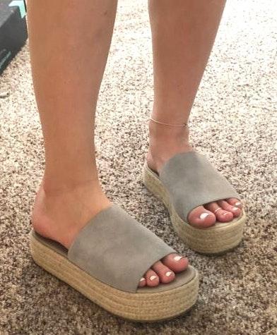 Coolway Flatform Suede Sandals