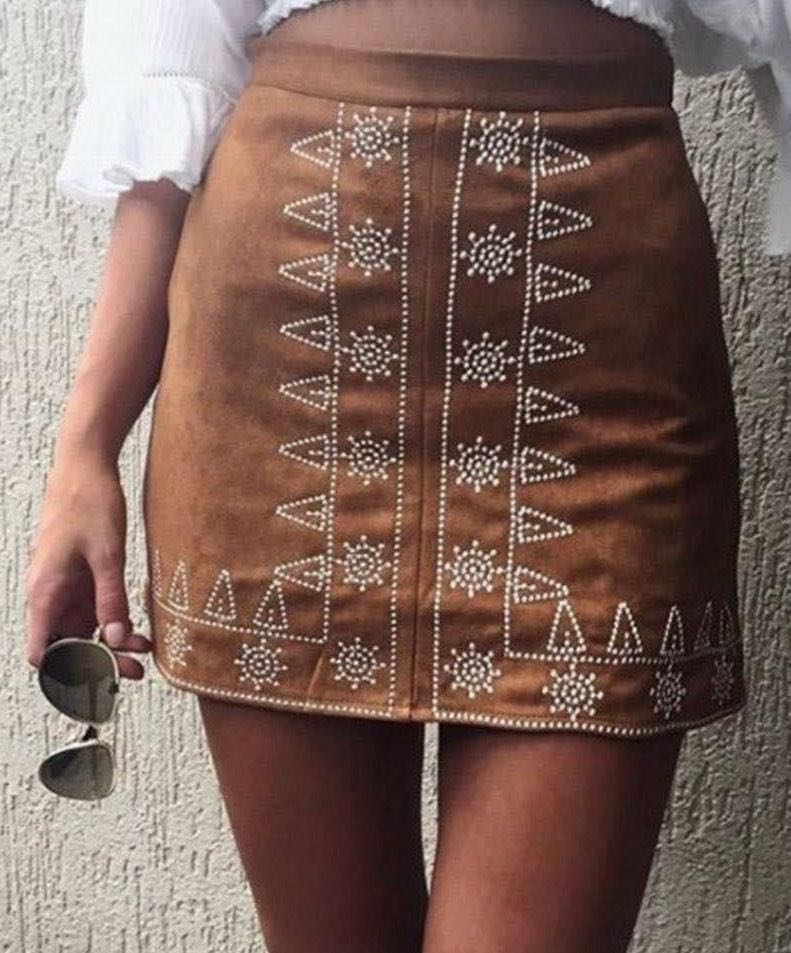 Bohemian Brown Skirt
